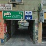 Entrance to Patio Hostel