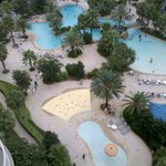 The view of the pools from our balcony on the 12th floor.
