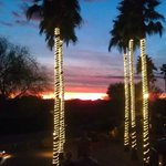 Sunset on the patio