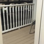Small Balcony with 2 chairs