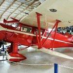 Lovely red biplane