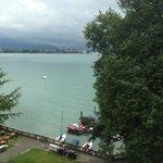 Blick vom Zimmer auf den See