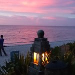 ビーチの夕日
