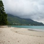 On August weekdays La Plage and Beau Vallon are very quiet