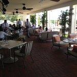 Dining on the wide verandah - El Encanto