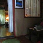 Deluxe Garden View room with small dark living room