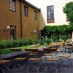 Eat outside in the museum garden