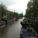 canal with houseboats