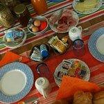 the abondant breakfast at Villa Bussola