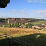 Tosson Tower Farm from tower ruin opposite