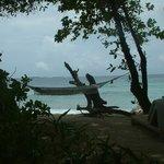 View from the beach villa balcony