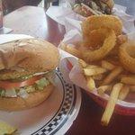 dream lover veggie burger and frings