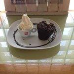 Chocolate Muffin and Fresh Ice cream