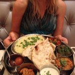 Vegetable Thali. Highly recommend!