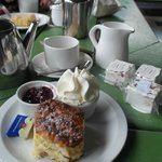 Tea for Two and Scones with Fresh Cream and Jam