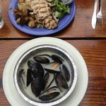 Mussels and red snapper
