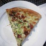 Mashed potato bacon pizza!