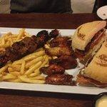 Chicken wings & burger