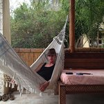 Hammock on the patio of the room