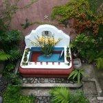 de opgedroogde fontein