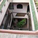 Vista sulla casa dal terrazzo