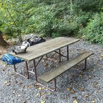Site picnic table...really nice one.