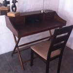 table and chair in my room