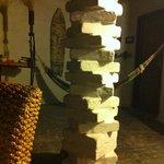 creative design of a pillar in livingroom