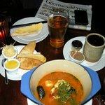 Fish stew and free newspaper