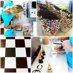 Yummy homemade dipped cones!