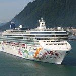 NCL Cruise ship at Juneau, Alaska