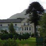 Pictireous front of Royal Victoria Snowdonia Hotel at Llanberis, Wales