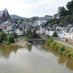 zicht op de Saar en Saarburg