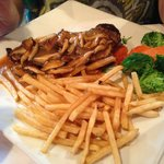 New York Strip w those delicious fries!!!