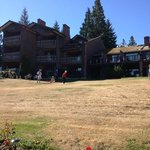 Deer Lodge Motel from front lawn