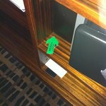Interesting inside of the tv furniture. Hadn't seen that before in other hotels.