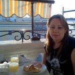 café da manhã no terraço