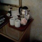 serviço de chá no quarto