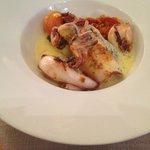calamars risotto à l'encre de seiche