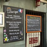 The specials menu at la barrique