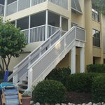 lower condos have private access to the grounds and pool