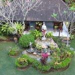 Outside restaurant and gardens