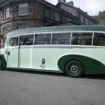 Vintage tour bus