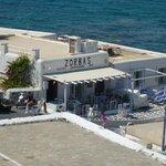 Zorba's Restaurant from Marietta's rooftop verandah