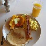 From the breakfast buffet