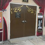 Beyond these doors is some wonderful community theatre.