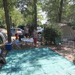 Montaggio della tenda nella piazzola