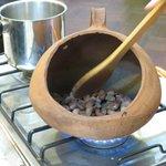 roasting cacao