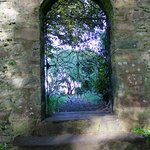A gate in the garden wall.