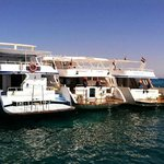 Snorkeling boats in Red Sea